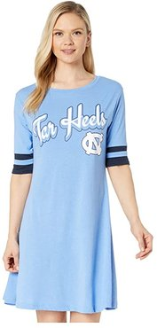 North Carolina Tar Heels Field Day Dress (Carolina Blue/Gear Navy) Women's Clothing