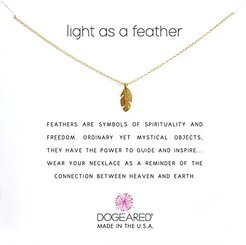 Light As a Feather Reminder (Gold) Necklace