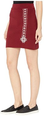 Geilo Skirt (Ruby Melange/Off-White) Women's Skirt