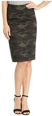 Reese Pencil Skirt in Knit Camo (Olive/Brown) Women's Skirt