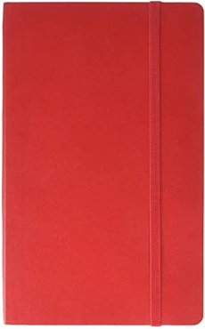 Classic Ruled Large Soft Notebook (Scarlet Red) Wallet