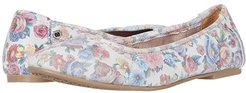 Anna (Bloom Printed Suede) Women's Flat Shoes