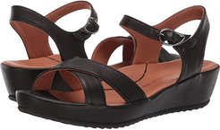 Casimiro (Black Leather) Women's Wedge Shoes