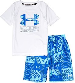Delayed Volley Set (Little Kids/Big Kids) (White) Boy's Swimwear Sets