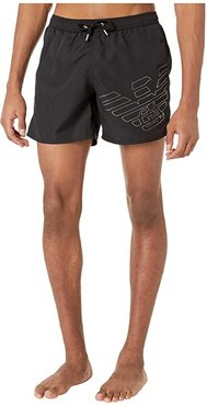 Silver Eagle Swim Boxer (Black) Men's Swimwear