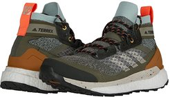Terrex Free Hiker Blue (Feather Grey/Alumina/Green Tint) Women's Shoes
