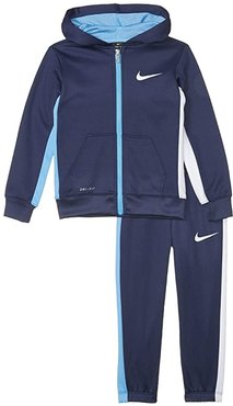 Therma-Fit Color Block Full Zip Jacket and Jogger Pants Two-Piece Set (Little Kids) (Midnight Navy) Boy's Active Sets