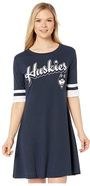 Uconn Huskies Field Day Dress (Gear Navy/White) Women's Clothing