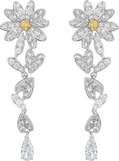 Eternal Flower Pierced Earrings (CZ Orange) Earring