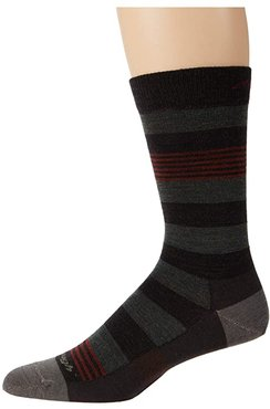 Oxford Crew Lightweight (Brown) Men's Crew Cut Socks Shoes