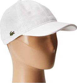 Cotton Pique Cap (White) Caps
