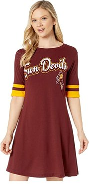 Arizona State Sun Devils Field Day Dress (Maroon/Yellow Gold) Women's Clothing