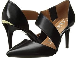 Gella Pump (Black Leather) High Heels