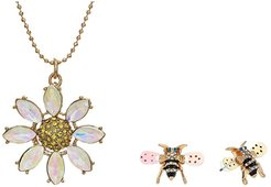 Daisy Necklace and Earrings Set (Yellow) Jewelry Sets