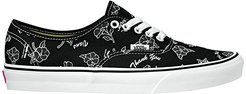 Authentictm ((Thank You Floral) Black/True White) Skate Shoes