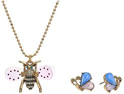 Bee Necklace and Earrings Set (Crystal) Jewelry Sets