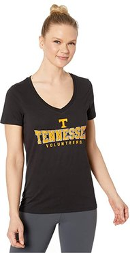 Tennessee Volunteers University V-Neck Tee (Black 1) Women's T Shirt