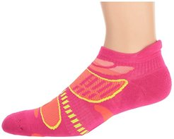 Ultra Light No Show (Electric Pink/Tangerine) Women's Crew Cut Socks Shoes