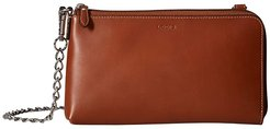 Audrey RFID Nova L-Zip Crossbody (Sequoia) Cross Body Handbags
