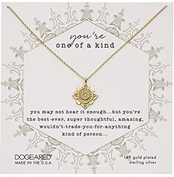 You're One Of A Kind, Crystal Mandala Necklace (Gold) Necklace