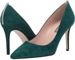 Fawn 90mm (Dark Green Suede) Women's Shoes
