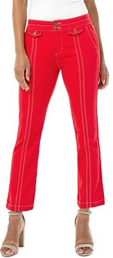 Front Flap Pocket Crop Flare in Red Ginger (Red Ginger) Women's Jeans
