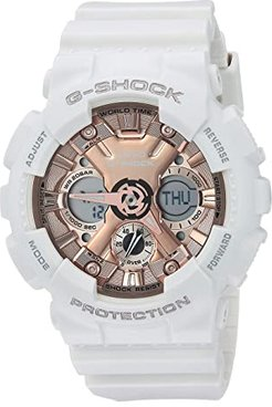 GMA-S120MF-7A2CR (White/Pink/Gold) Watches