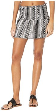 Rio Bueno Short Skirt Cover-Up (Black) Women's Swimwear