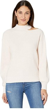 Go All Cutout Sweater (Light Pearl) Women's Clothing