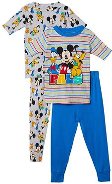 Disney(r) Mickey and Friends Best Pals Four-Piece Set (Toddler) (Assorted) Boy's Pajama Sets