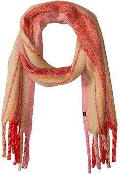 Bold Stripes Muffler (Cherry Red) Scarves