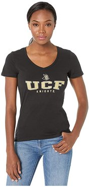 UCF Knights University V-Neck Tee (Black 3) Women's T Shirt