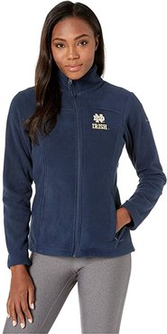Notre Dame Fighting Irish CLG Give and Gotm II Full Zip Fleece Jacket (Collegiate Navy) Women's Fleece