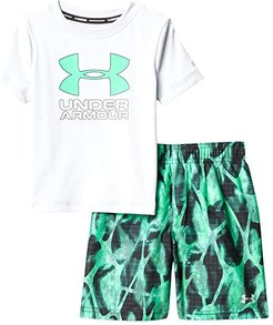 Exo Blur Volley Set (Toddler) (Halo Gray) Boy's Swimwear Sets
