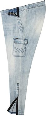 Seated Slim Athletic Fit Jeans w/ Micro Velcro(r) Closure and Thigh Pockets in Moonlight (Moonlight) Men's Jeans