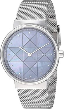 Annelie Two-Hand Stainless Steel Mesh Watch (SKW2833 Silver Stainless Steel Mesh) Watches
