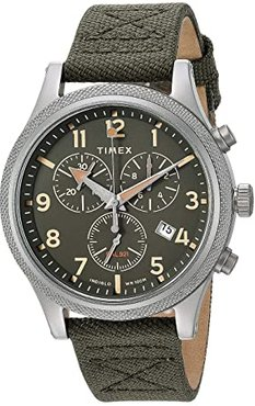 Allied LT Chronograph (Silver/Green/Green) Watches