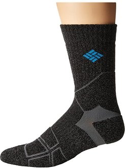 Hiking Medium Weight Crew (Charcoal) Crew Cut Socks Shoes