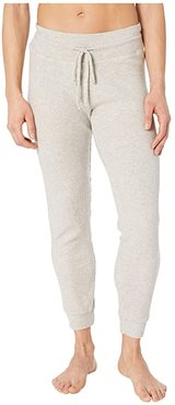 Brushed Up Lounge Around Midi Joggers (Oatmeal Heather) Women's Casual Pants