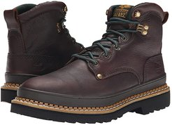 G6374 6 Safety Toe Georgia Giant (Brown) Men's Work Lace-up Boots