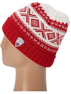 Cortina 1956 Hat (B-Raspberry/Off White) Knit Hats