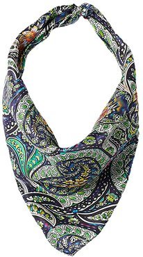 21x21 Wild Rags Silk Patterned Scarf Bandana (Bright Scroll Floral Multi) Scarves