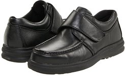 Gil (Black Leather) Men's Hook and Loop Shoes
