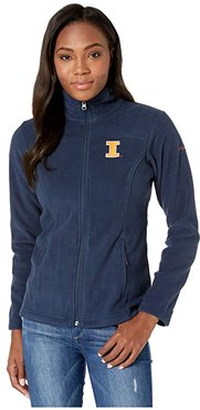 Illinois Fighting Illini CLG Give and Gotm II Full Zip Fleece Jacket (Collegiate Navy) Women's Fleece