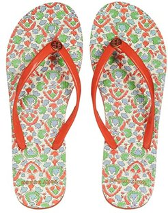Thin Flip Flop (Poppy Red/Legacy Paisley) Women's Sandals