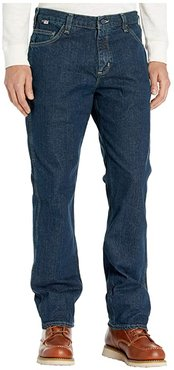 Flame-Resistant (FR) Rugged Relaxed Fit Flex Jeans (Deep Indigo Wash) Men's Jeans