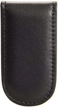 Nappa Vitello Collection - Magnetic Money Clip (Black Leather) Wallet