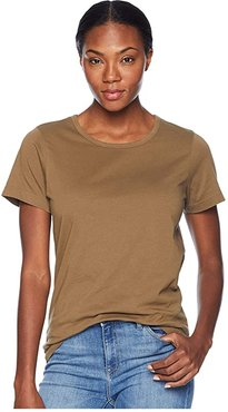 Whidbey Scoop Neck T-Shirt (Field Olive) Women's Clothing