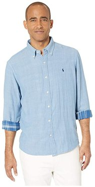 Double Face Button-Down Shirt (Chambray) Men's Clothing