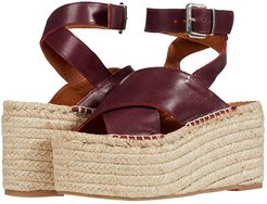 Vegas Platform Espadrille Wedge (Burgundy) Women's Shoes